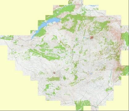 Topographic Map Zimbabwe.Zimbabwe Topographic Map 1 200 000 Russian Soviet Military