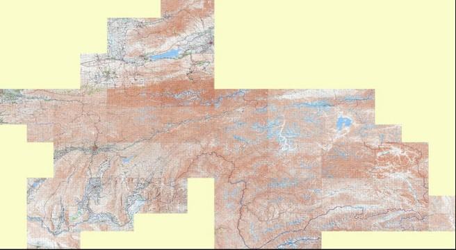 Tajikistan Topographic Map Russian Soviet Military - Military topographic maps
