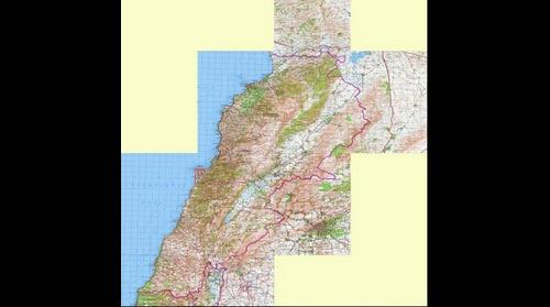 Lebanon Topographic Map 1 200 000 Russian Soviet Military