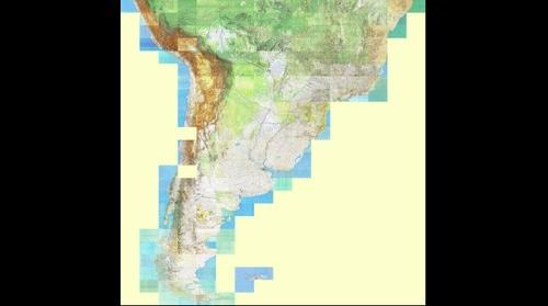 South America Russian Topographic Map 1 500 000
