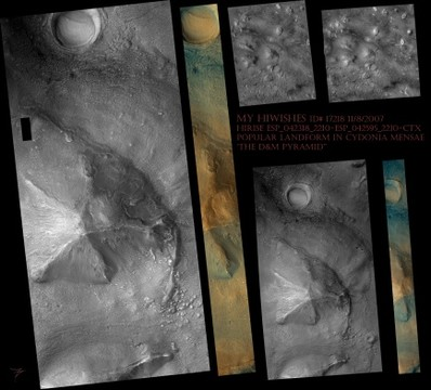 My HiWishes- 'Another Popular Landform in Cydonia Mensae'