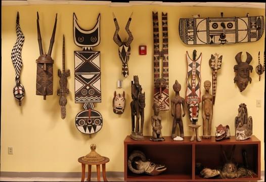 African Masks Wall